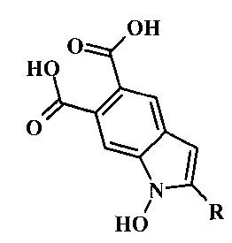 Способ получения 2-замещенных 1-гидрокси-1н-индол-5,6-дикарбоновых кислот