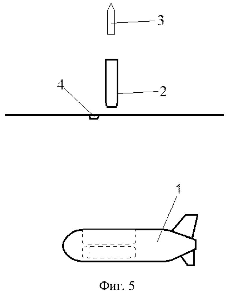 Способ скрытного перемещения под водой беспилотного летательного аппарата и выхода его на стартовую позицию