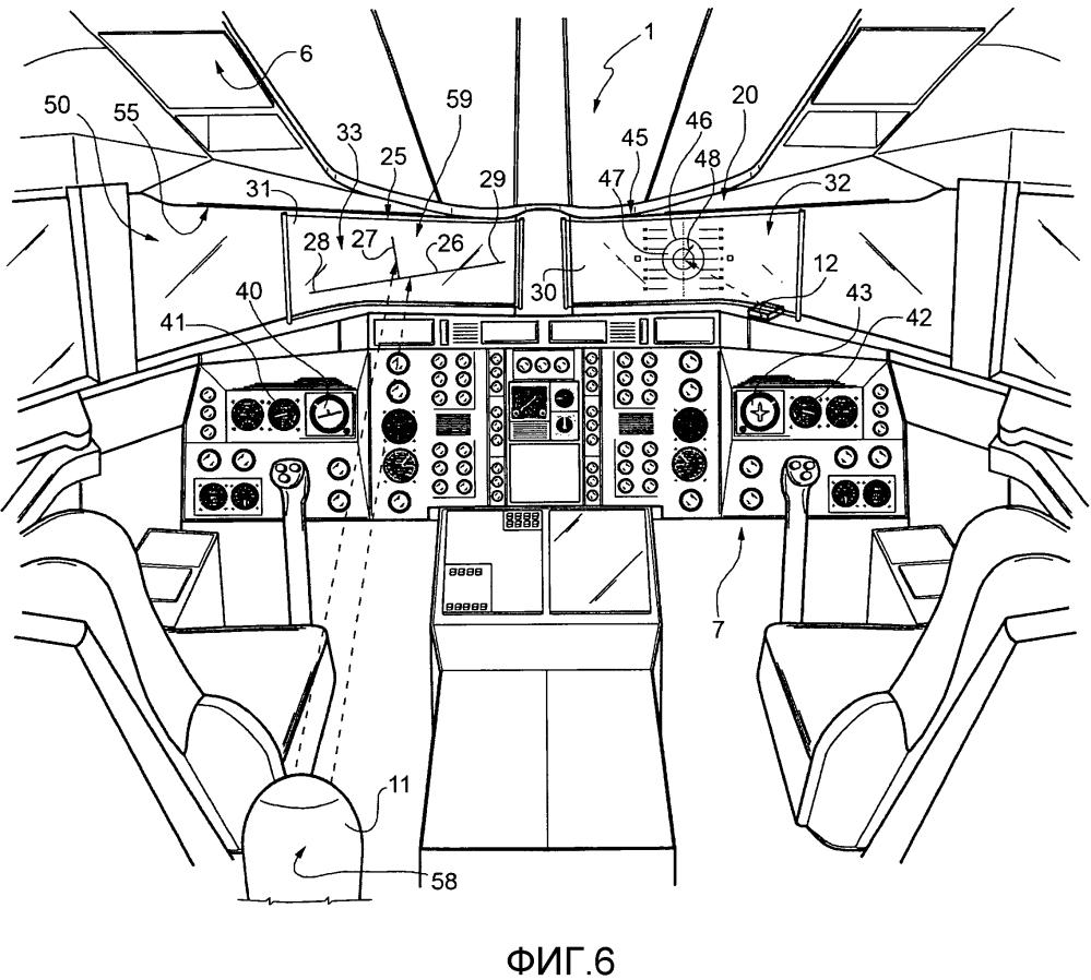 Летательный аппарат и способ отображения визуальной информации, связанной с параметрами полета, для оператора летательного аппарата