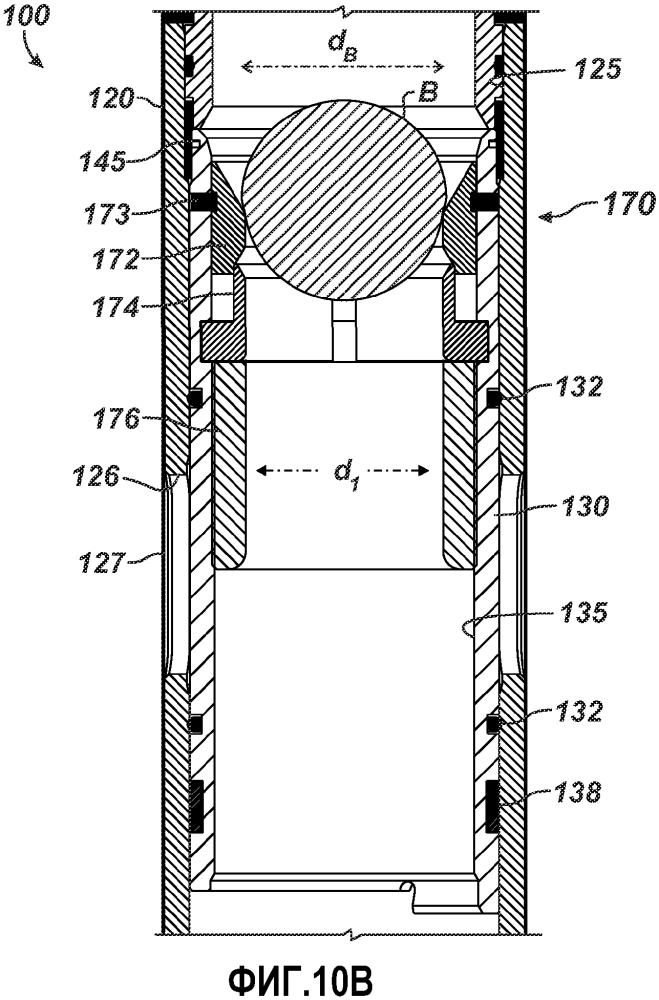 Скользящая муфта, имеющая сужающееся, сдвоенно сегментированное шаровое седло