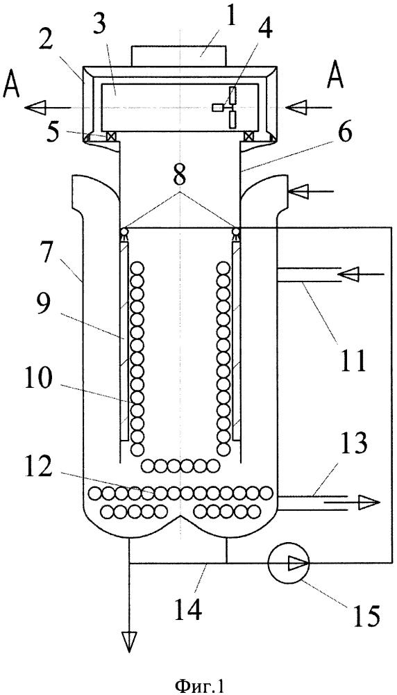 Устройство косвенно-испарительного охлаждения сжатого газа компрессорной станции магистрального газопровода