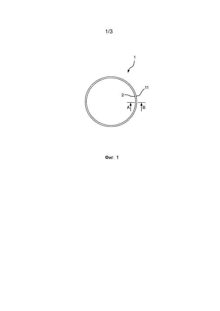 Поршневое кольцо со слоем из хрома и твердых частиц для защиты от износа и коррозионностойкой боковой поверхностью