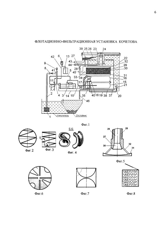 Флотационно-фильтрационная установка кочетова