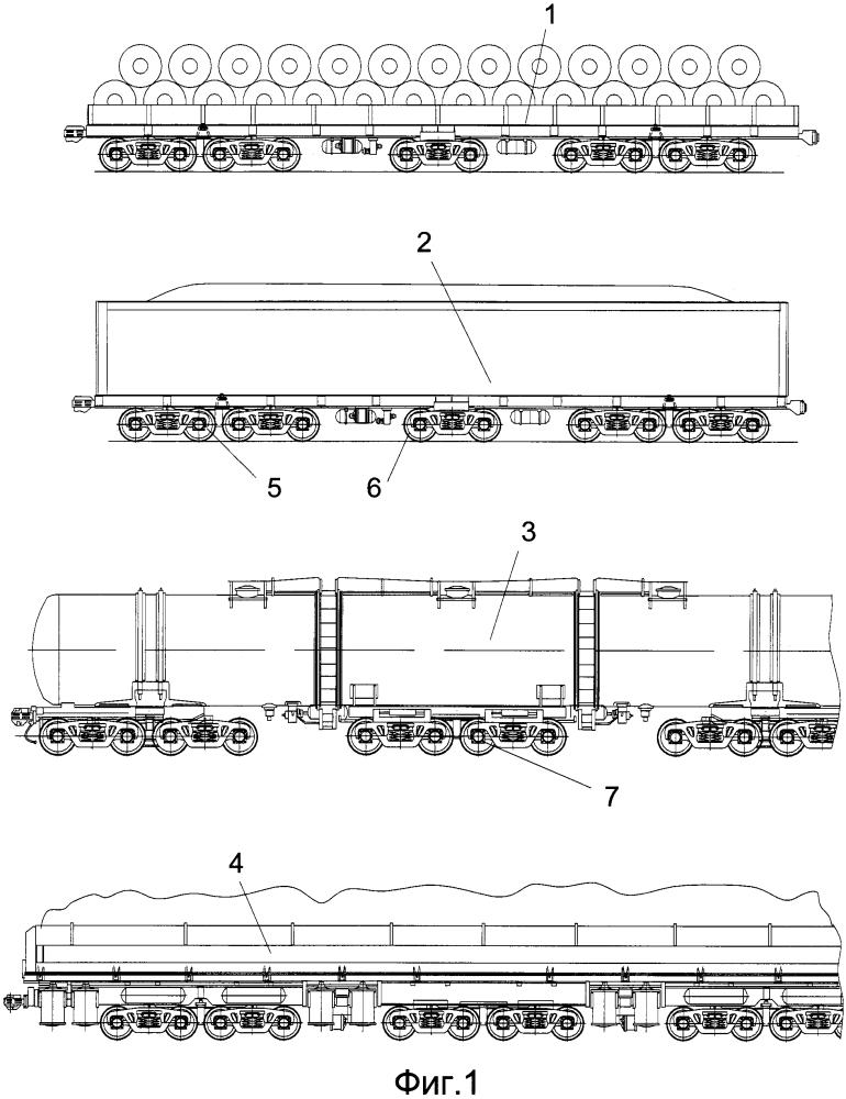 Трехтележечное транспортное средство и средняя тележка конструкции в.в. бодрова