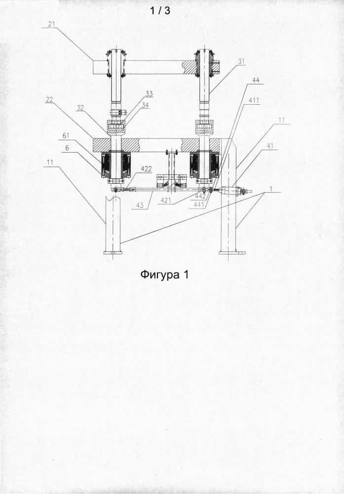 Гидравлическая машина для вулканизации шин с возможностью осуществления самонастройки при регулировании пресс-формы без опорной плиты