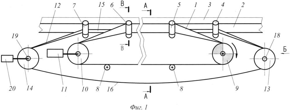 Промежуточный привод ленточного конвейера
