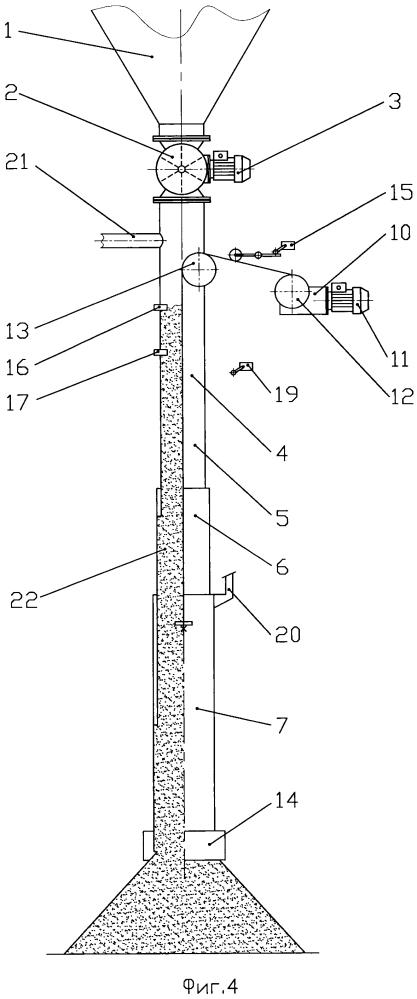 Устройство для перегрузки сыпучего материала