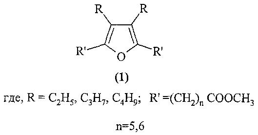 Способ получения метил n-[3,4-диалкил-5-(n-метокси-n-оксоалкил)-2-фурил]алканоатов