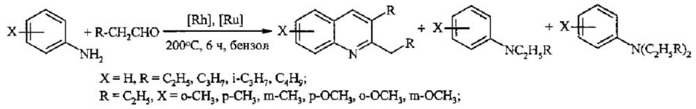 Способ получения замещенных хинолинов из анилина, 1,2-диолов и ссl4 под действием железосодержащих катализаторов