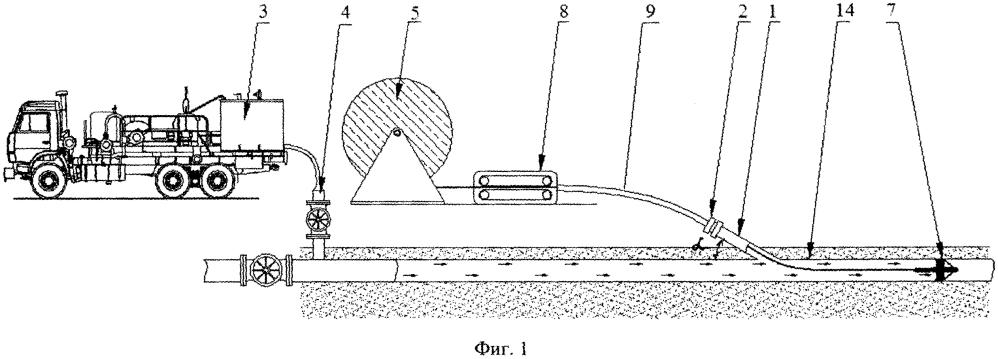 Система нагрева потока жидкости в трубопроводе