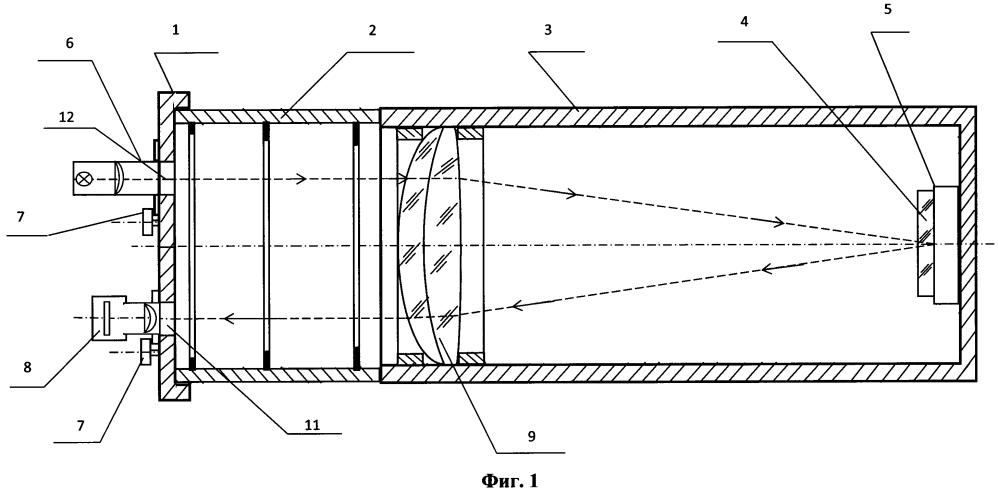 Устройство защиты и контроля состояния оптических поверхностей в фокальной плоскости объектива оптического прибора