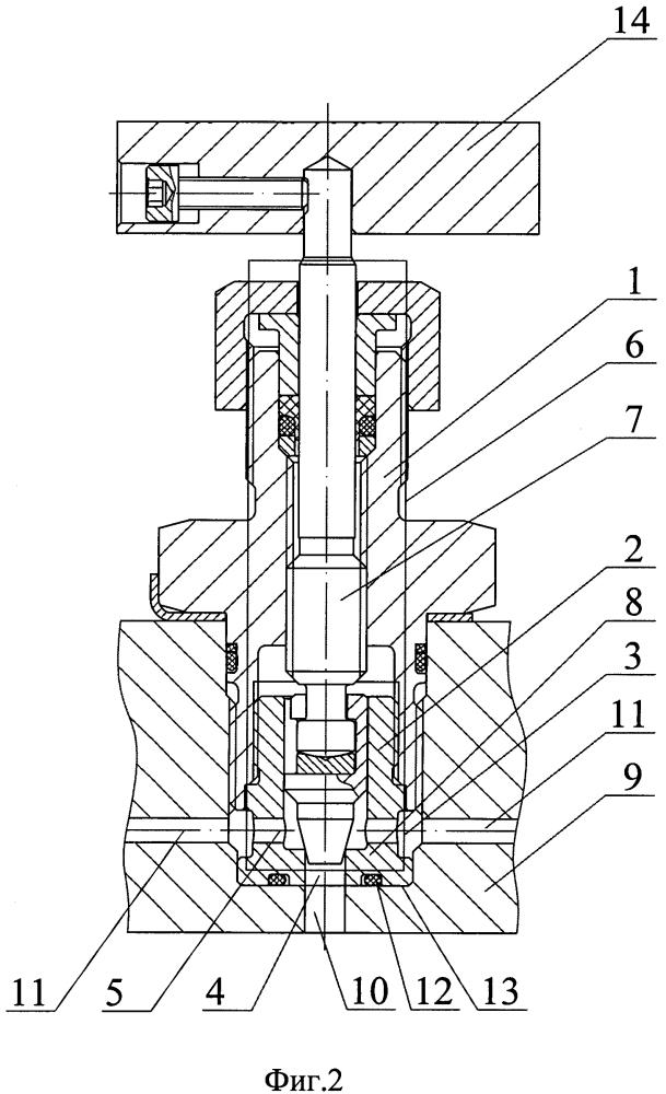 Клапан запорный игольчатый картриджного монтажа
