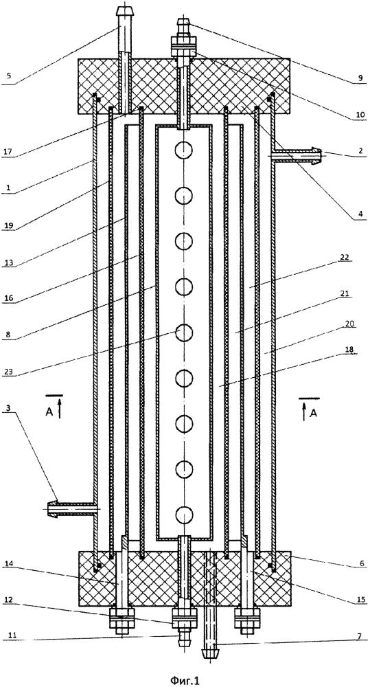 Электрохимическая модульная ячейка для обработки растворов электролитов