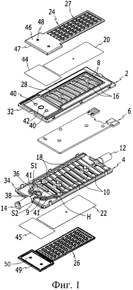 Медицинское нагревательное устройство, содержащее средство блокирования потока текучей среды
