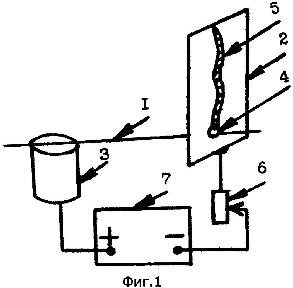 Способ отклонения тепловой кумулятивной струи расплавленного металла и образованного ей канала на металлической поверхности катода в дуговом импульсном разряде при взрыве проволочки между электродами действием поперечного магнитного поля