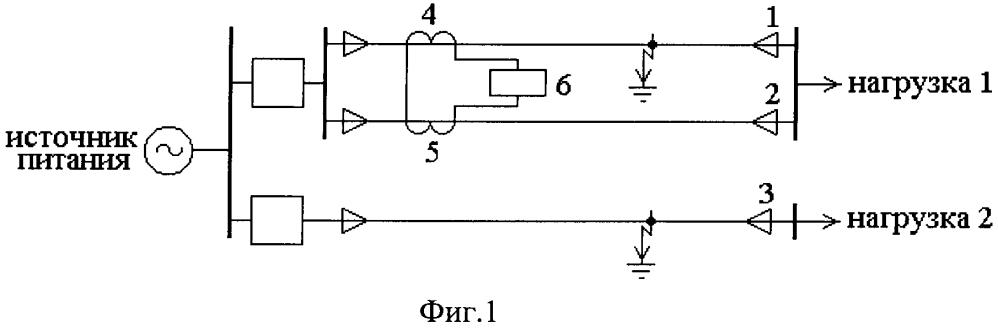 Устройство защиты линии электропередачи из двух параллельно соединенных кабелей в электрической сети с изолированной нейтралью от однофазного замыкания на землю