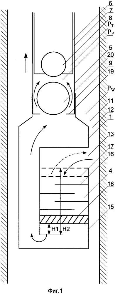 Скважинный погружной насос с газосепаратором