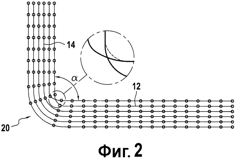 Волоконная структура трехмерного плетения, волоконная заготовка, полученная из этой волоконной структуры, и деталь из волоконного материала, содержащая эту заготовку