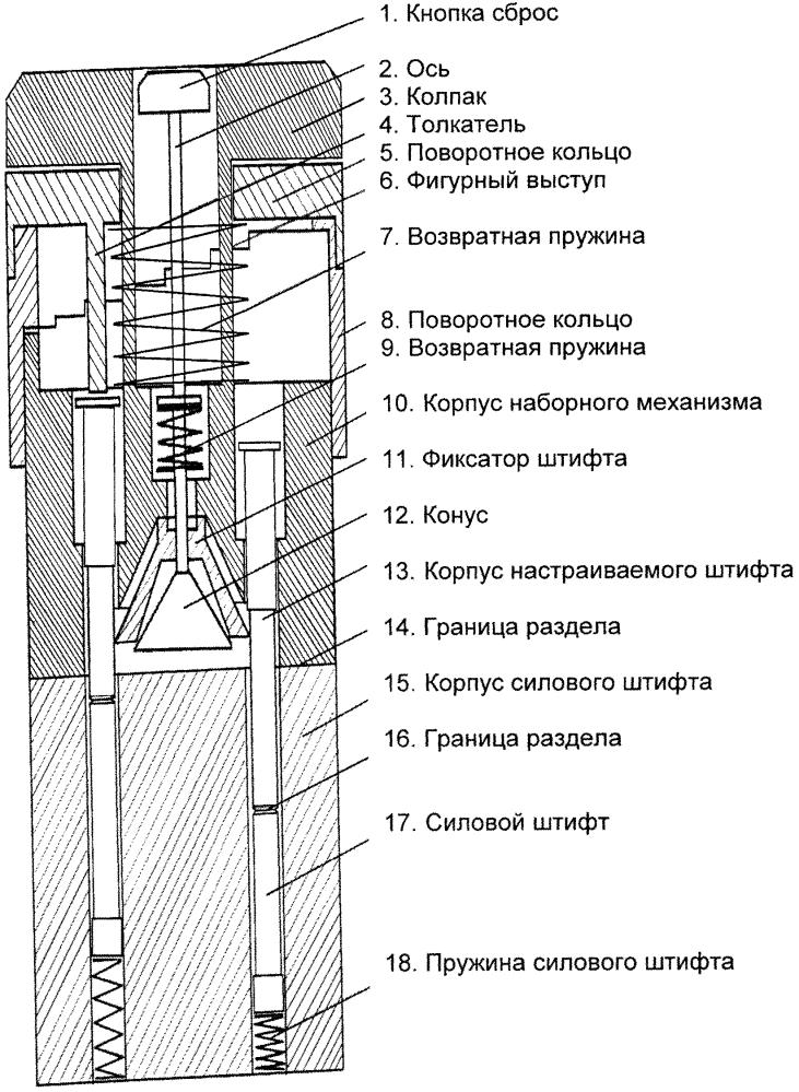 Бесключевой цилиндровый замок с изменяемым кодом