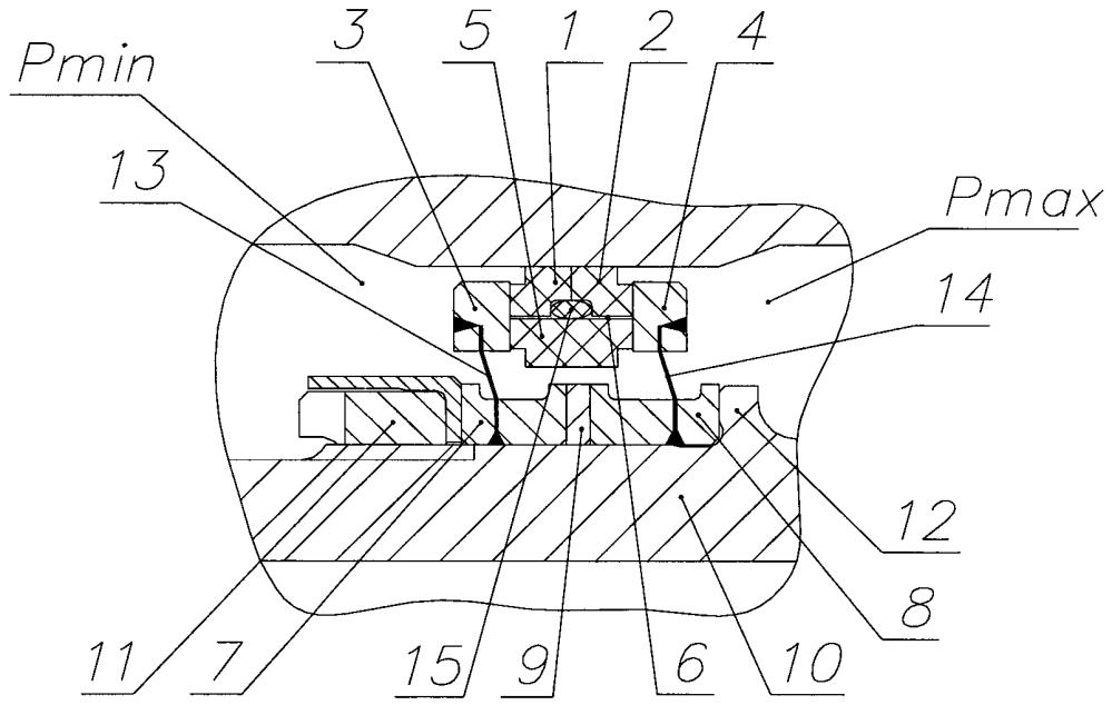 Радиально-торцевое контактное уплотнение ротора турбомашины