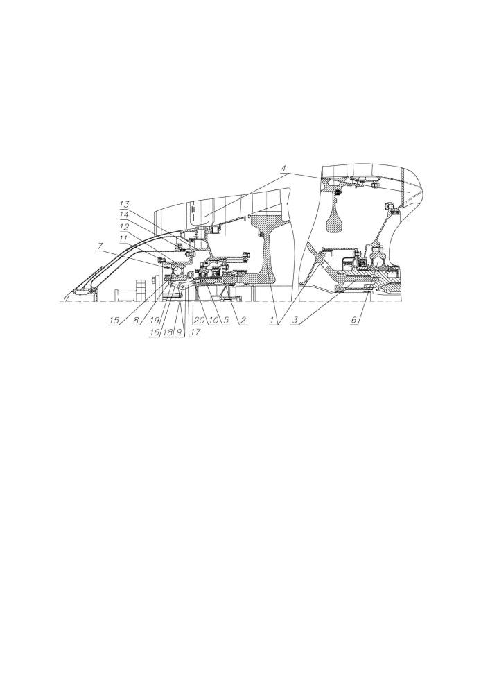 Компрессор низкого давления газотурбинного двигателя