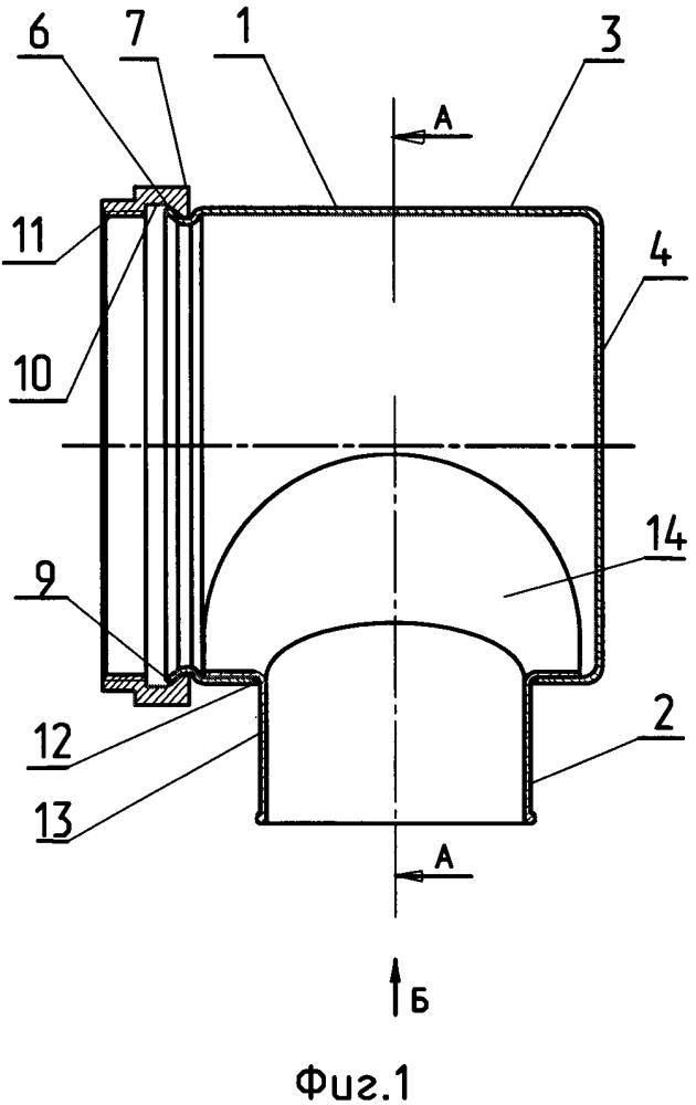 Универсальный патрубок (кожух) электросоединителя с разнонаправленным выводом кабельного ствола