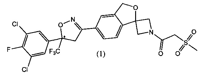 Кристаллические формы 1-(5-(5-(3,5-дихлоро-4-фторфенил)-5-(трифторметил)-4,5-дигидроизоксазол-3-ил)-3н-спиро[азетидин-3,1-изобензофуран]-1-ил)-2-(метилсульфонил)этанона