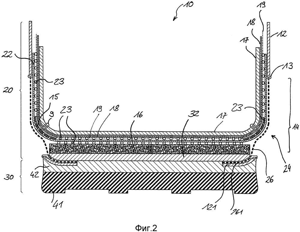Предмет обуви с воздухопроницаемым слоем и воздухопроницаемым участком в нижней периферийной области верха