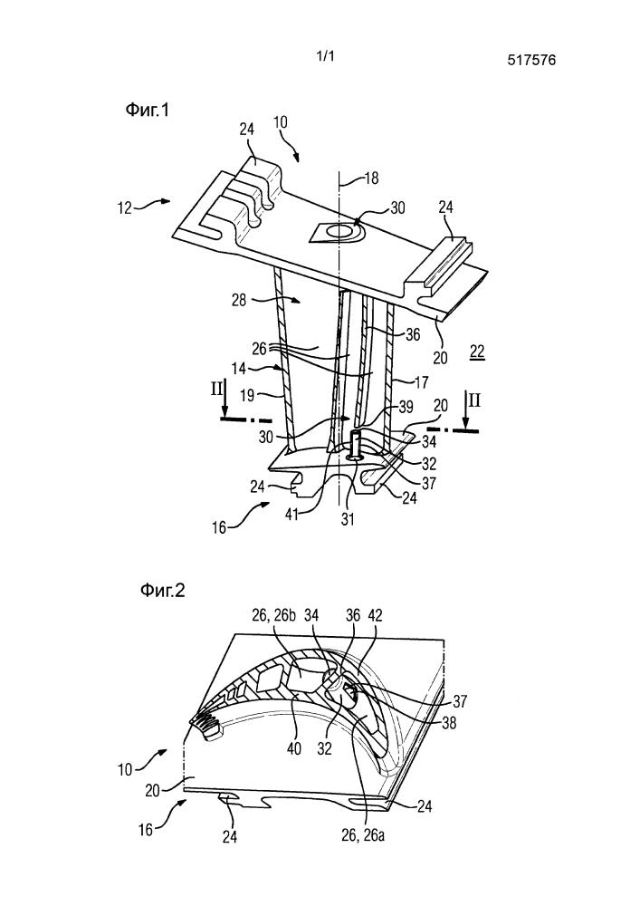 Направляющая лопатка турбины, снабженная дроссельным элементом