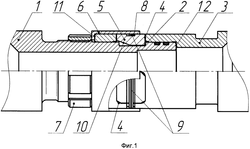 Быстроразъемное бесфланцевое соединение цилиндрических деталей