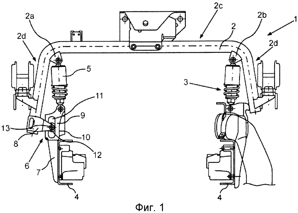 Задний опорный узел кабины водителя автомобиля промышленного назначения