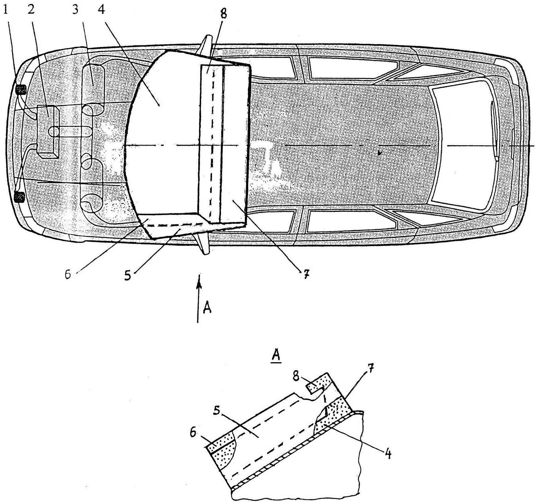 Устройство для повышения пассивной безопасности автотранспортного средства