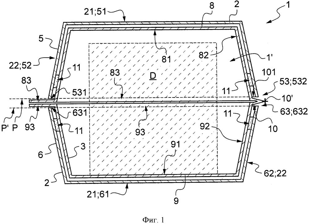 Тара типа коробки, выполненной из двух материалов, для упаковки товара