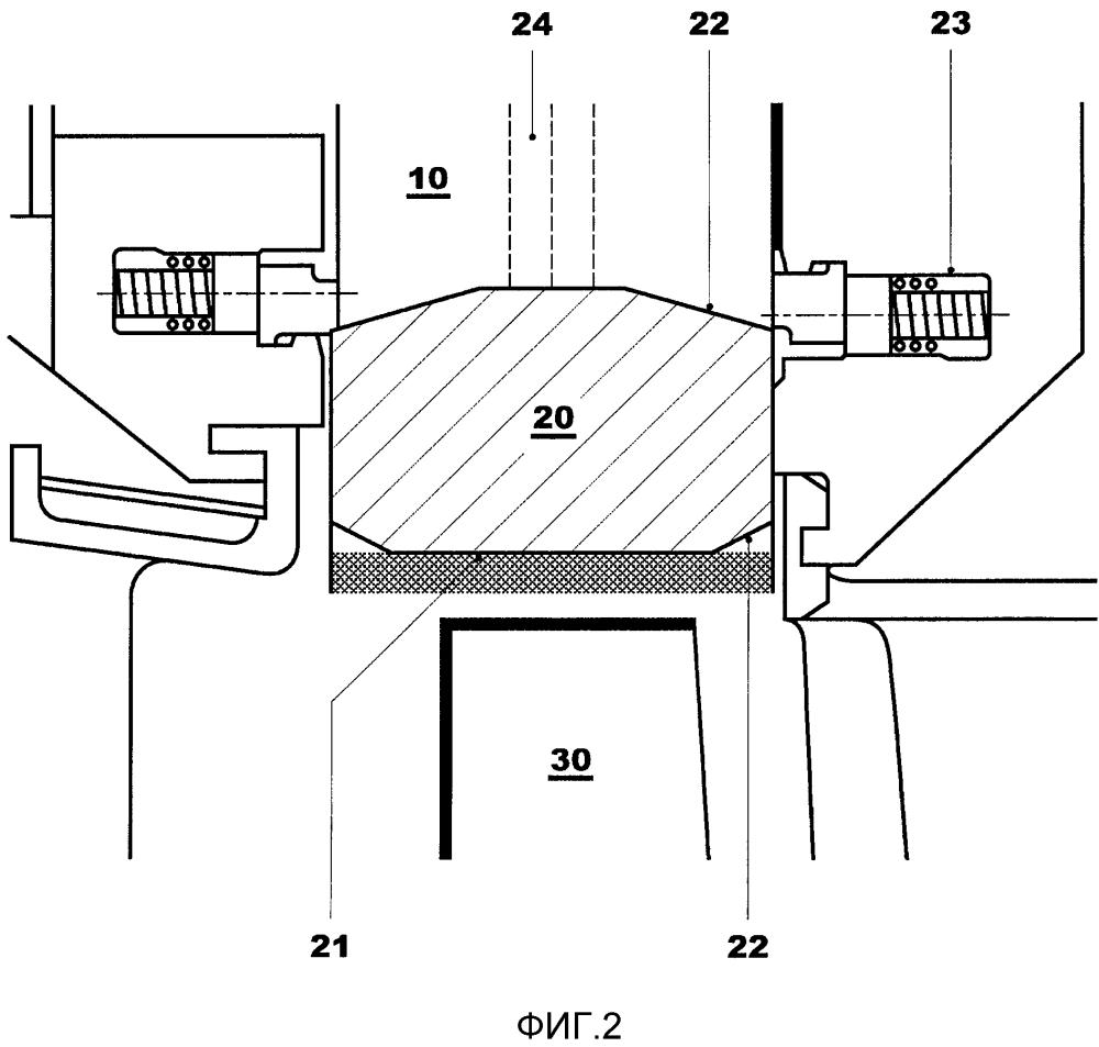 Деталь статора с сегментированным внутренним кольцом для турбомашины