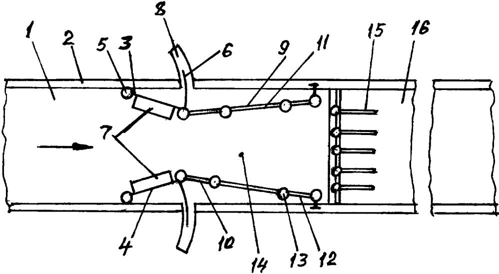 Способ управления режимом потока в открытом канале