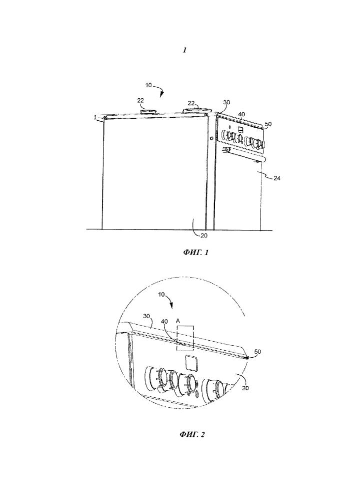 Кухонный прибор с пружинным элементом