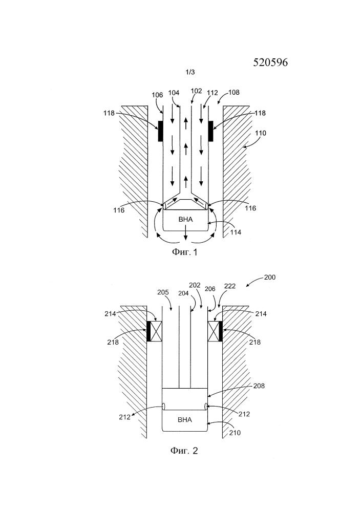 Способы и системы для выполнения подземных работ с применением труб двойной бурильной колонны