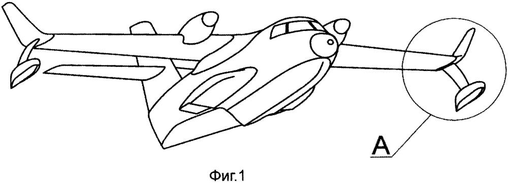 Концевое устройство крыла самолета-амфибии или гидросамолета