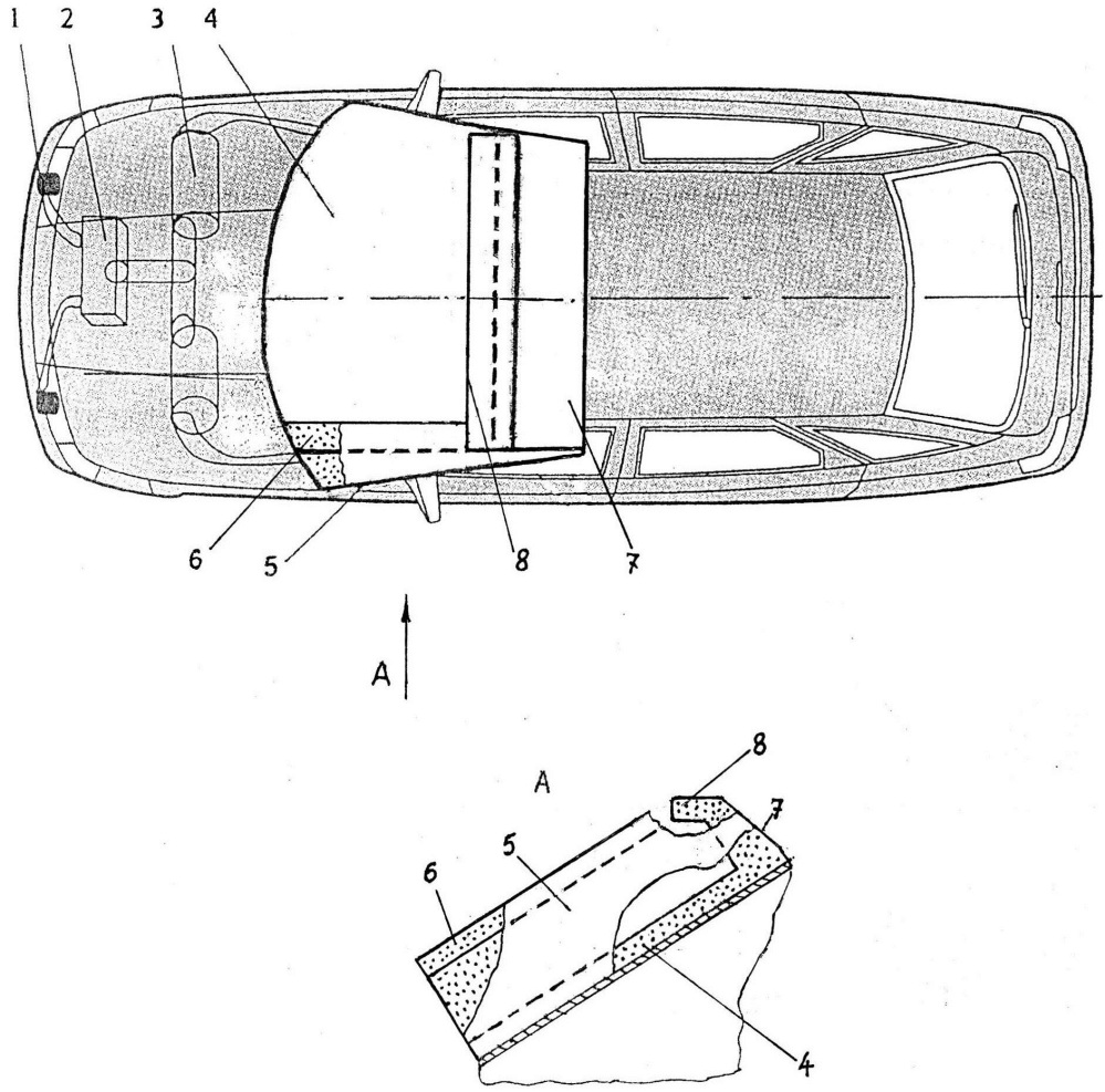 Устройство для защиты водителей двухколёсных транспортных средств и пешеходов при их лобовом столкновении с автомобилем