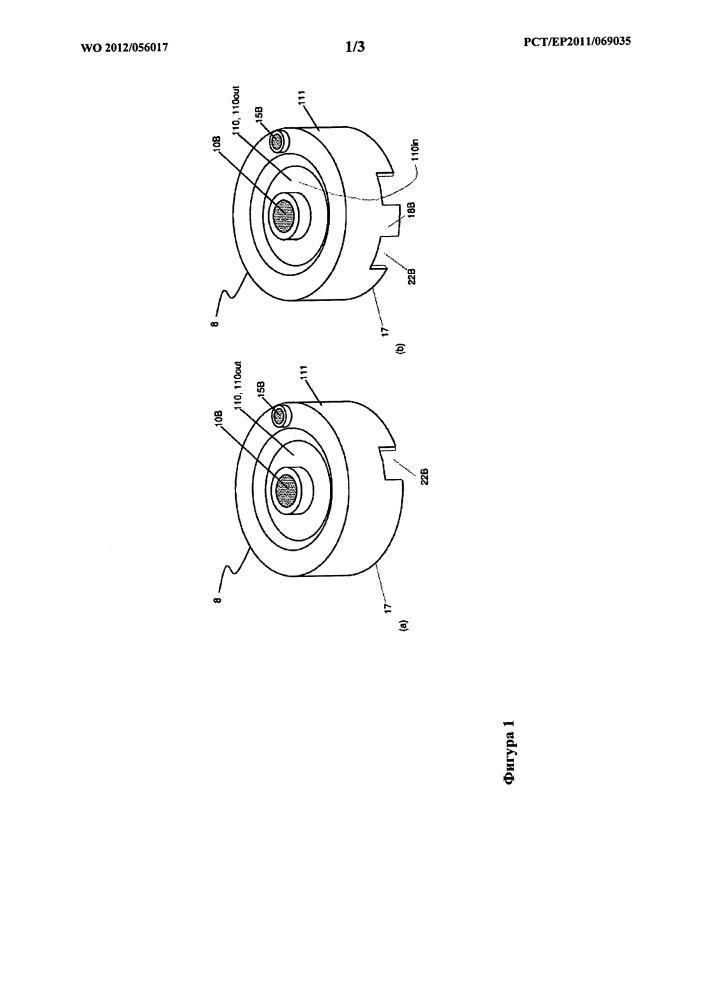 Устройство дозирования, снабженное устройством для размещения резервуара