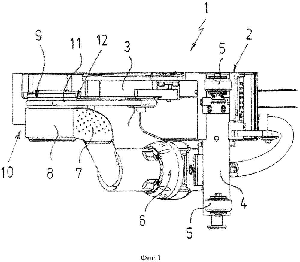 Сварочная машина для соединения перехлестывающихся рулонов материала
