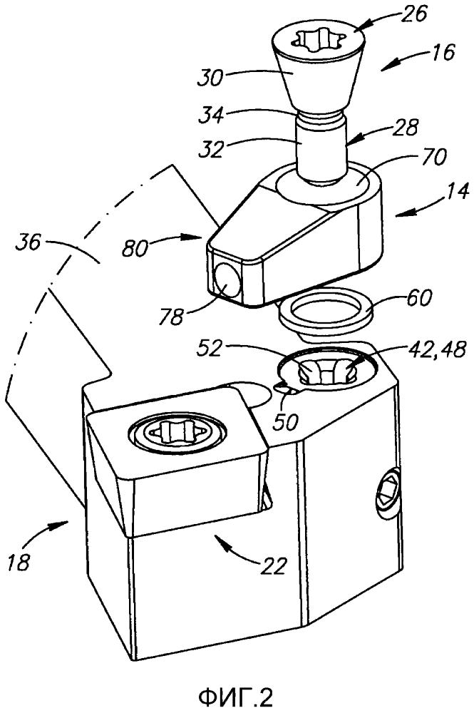 Режущий инструмент с внутренней системой подачи жидкости