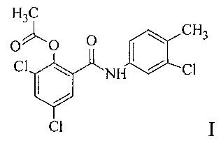 Способ получения n-(4-метил-3-хлорфенил)-2-ацетокси-3,5-дихлорбензамида