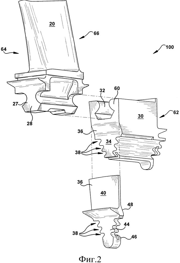 Устройство для крепления лопатки и турбомашина, содержащая это устройство