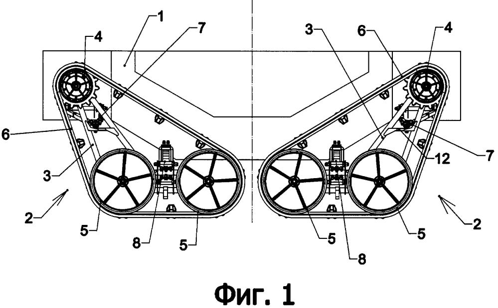 Система подвески и подвеска движителя вездехода