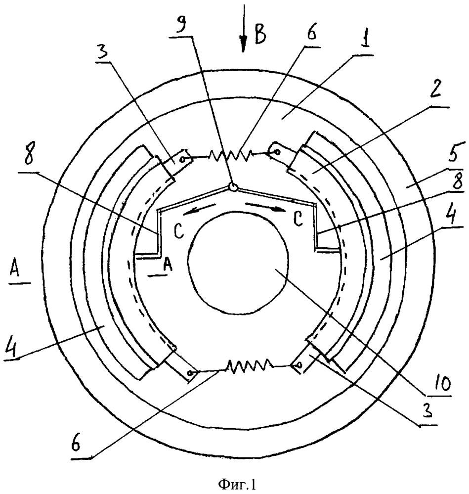 Тормозное устройство автомобильного колеса