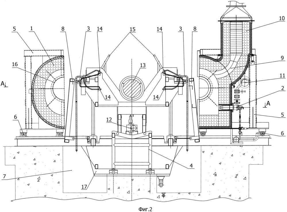 Агрегат для термической обработки рабочего валка стана холодной прокатки и способ его термической обработки