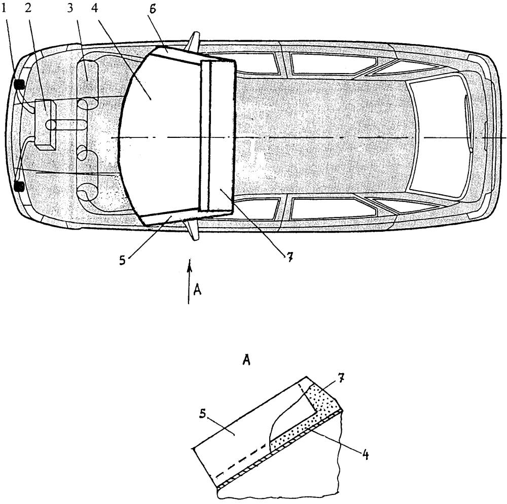 Устройство для повышения безопасности легкового автомобиля