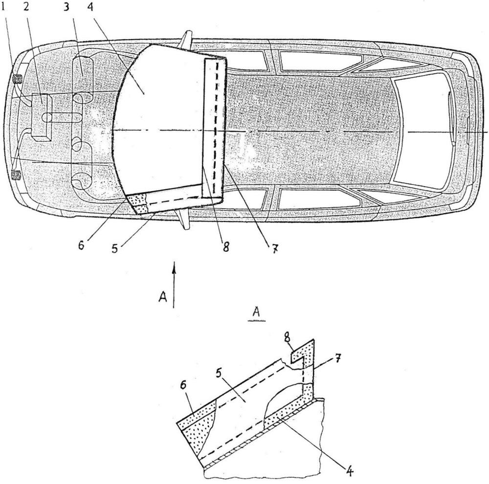 Система для защиты пешеходов и водителей двухколёсных транспортных средств при их столкновении с автотранспортным средством