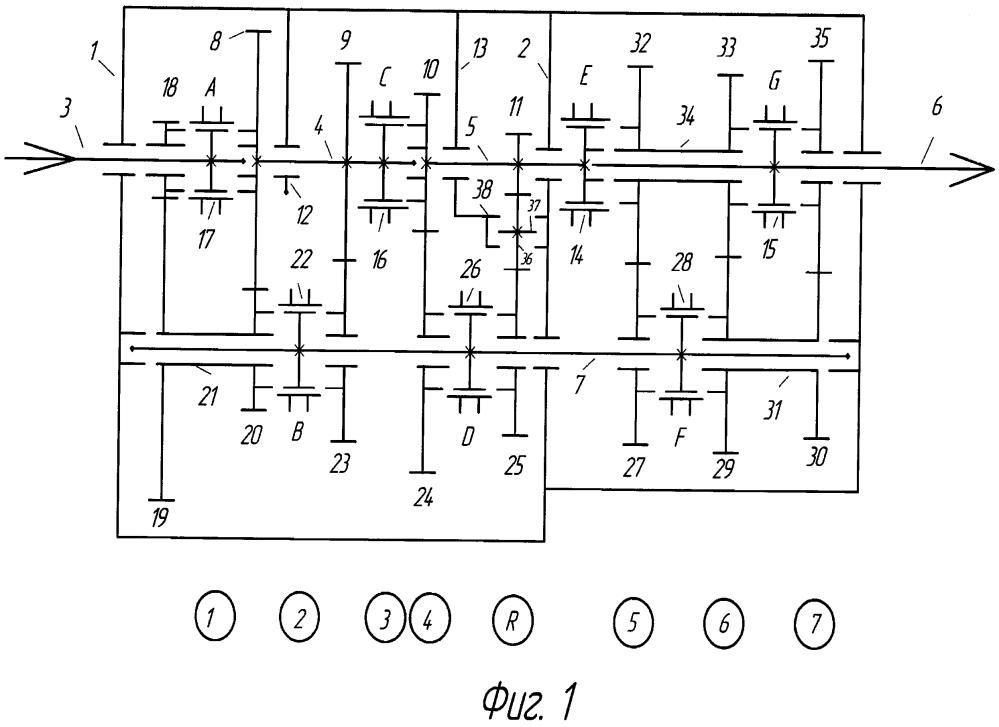 Многоступенчатая коробка передач типа 36r16
